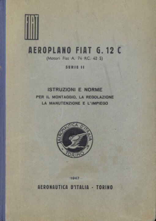 Flight Manual for the Fiat G.12 and G.212