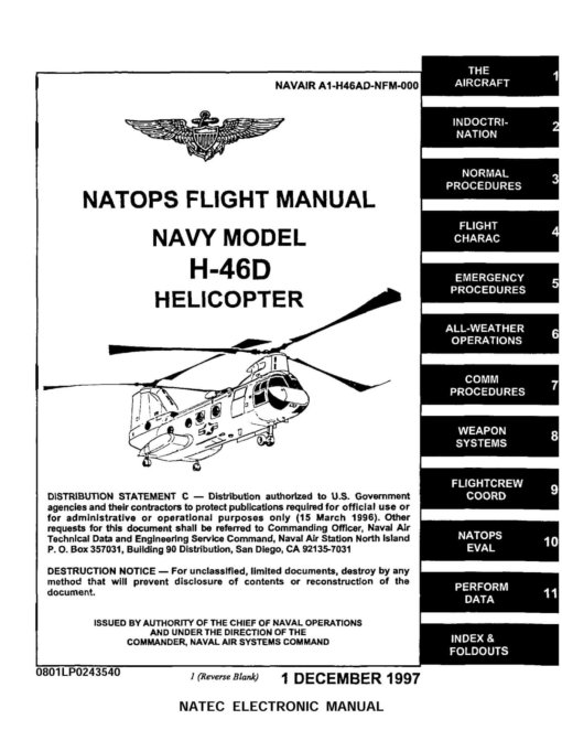 Flight Manual for the Boeing Vertol H-46 Sea Knight