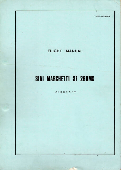 Flight Manual for the Siai Marchetti SF260