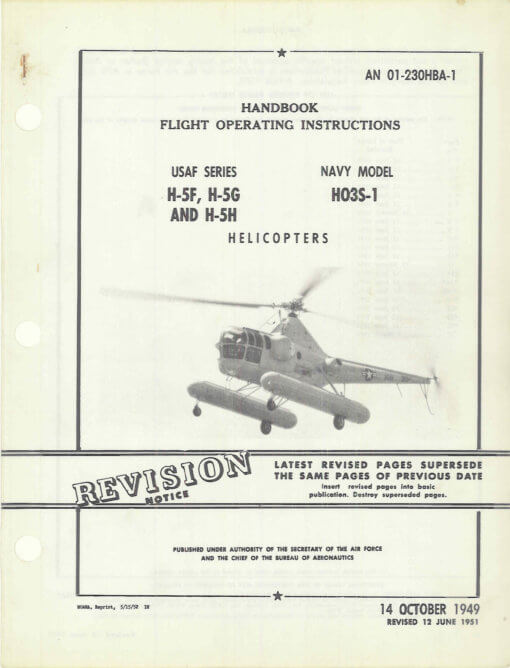 Flight Manual for the Sikorsky S-51 H-5 HO2S HO3S