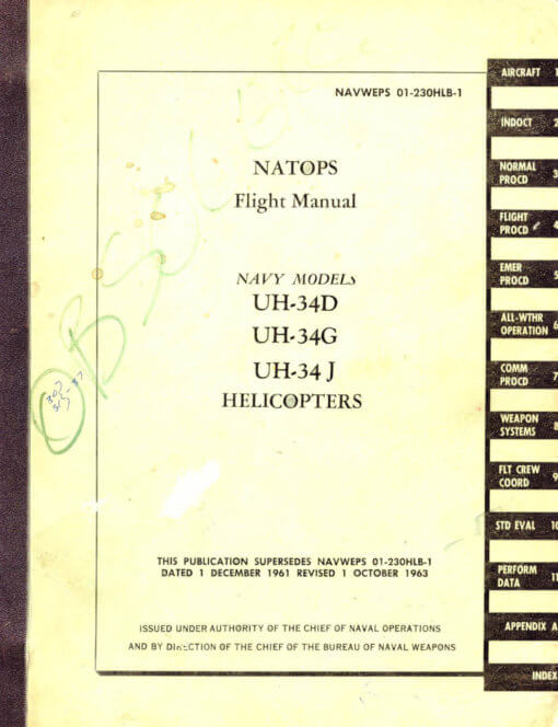 Flight Manual for the Sikorsky S-58 H-34 HSS-1