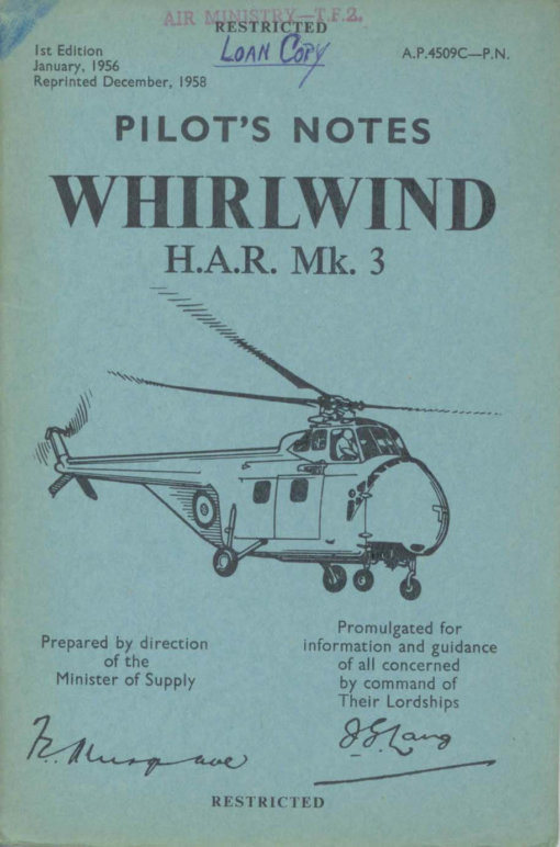 Flight Manual for the Westland Whirlwind