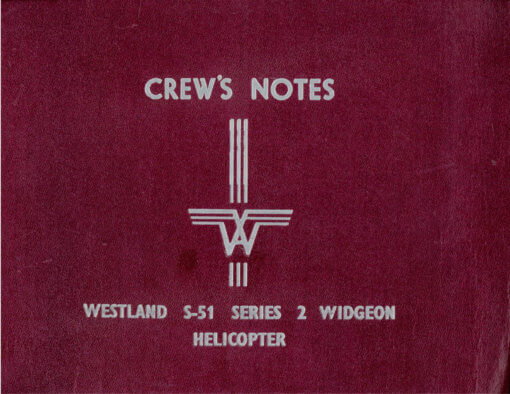 Flight Manual for the Westland S-51 Dragonfly