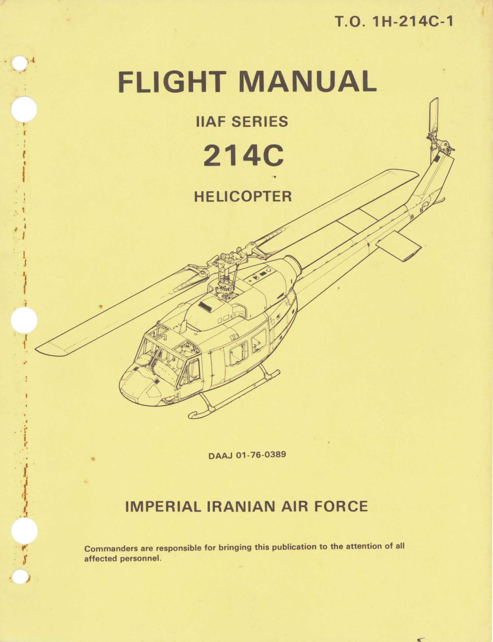 Flight Manual for the Bell 214