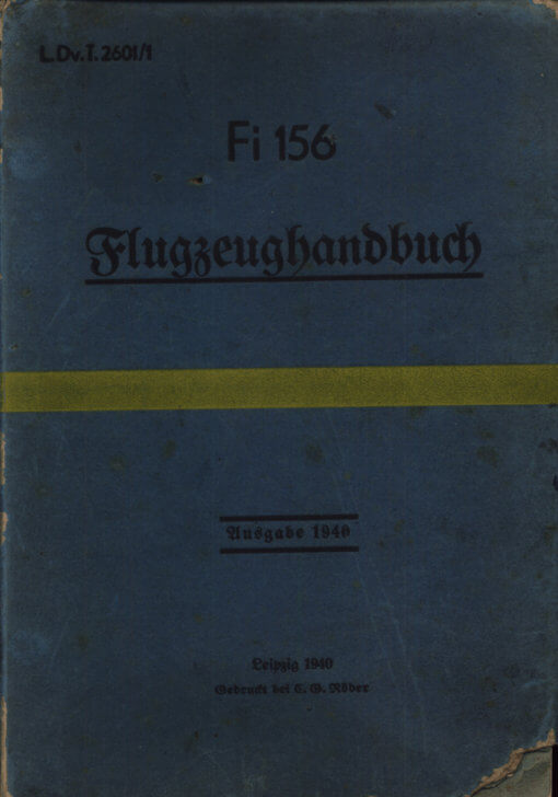 Flight Manual for the Fieseler Storch