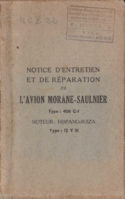 Flight Manual for the Morane-Saulnier MS406
