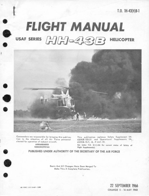 Flight Manual for the Kaman HH-43 Huskie