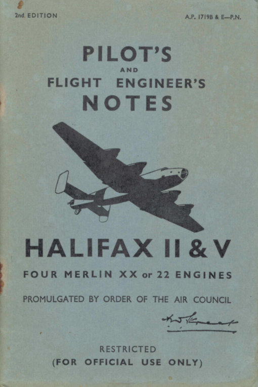 Flight Manual for the Handley Page Halifax