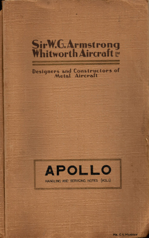 Flight Manual for the Armstrong Whitworth Apollo
