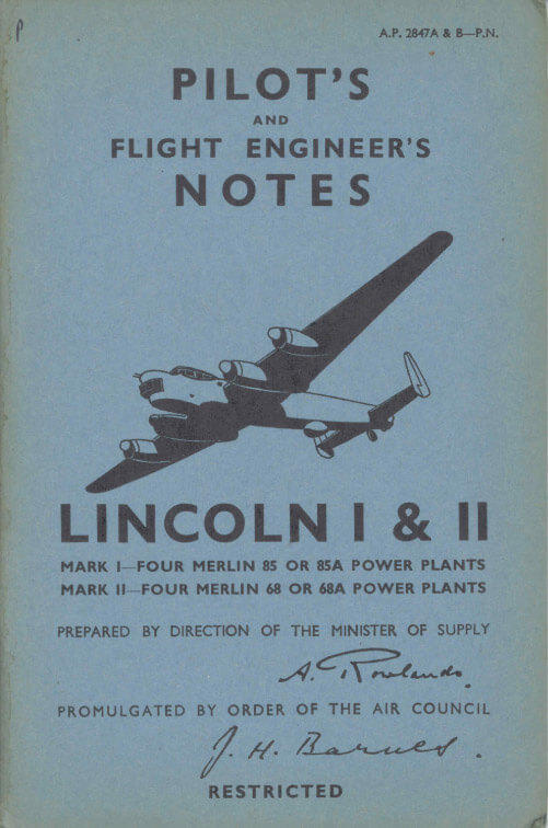 Flight Manual for the Avro Lincoln