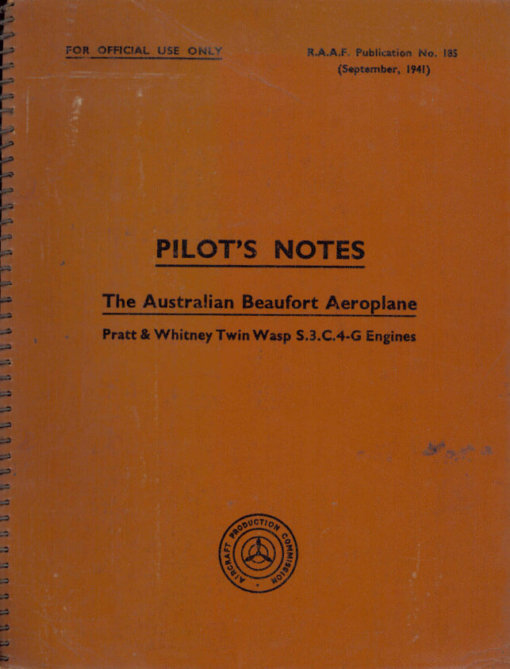 Flight Manual for the Bristol Beaufort