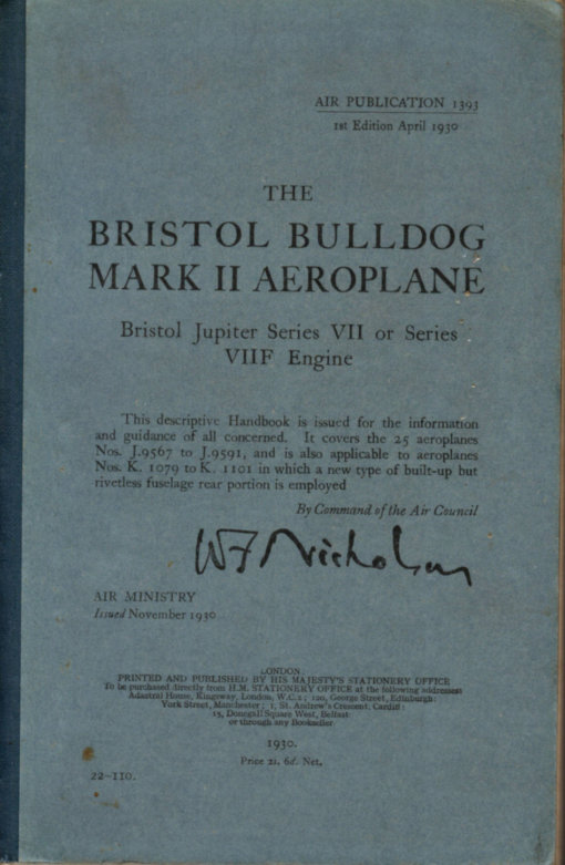 Flight Manual for the Bristol Bulldog