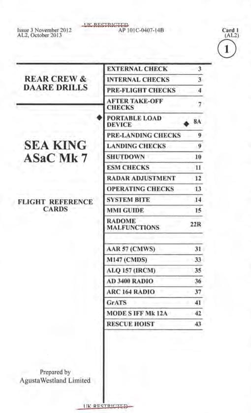 Flight Manual for the Westland Sea King
