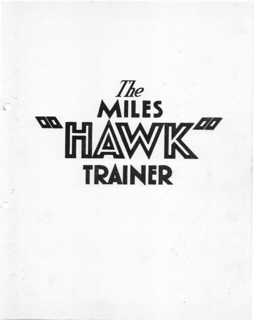 Flight Manual for the Miles Hawk