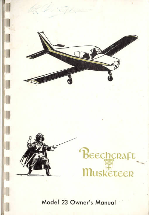 Flight Manual for the Beechcraft Model 23 Musketeer