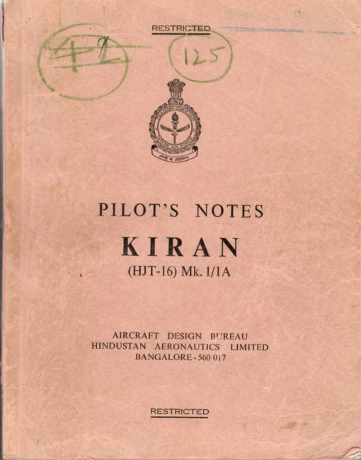 Flight Manual for the Hindustan HJT-16 Kiran