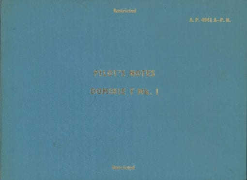 Flight Manual for the De Havilland DH125 and Dominie