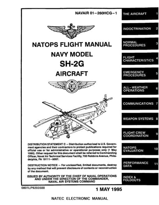 Flight Manual for the Kaman SH-2 Seasprite