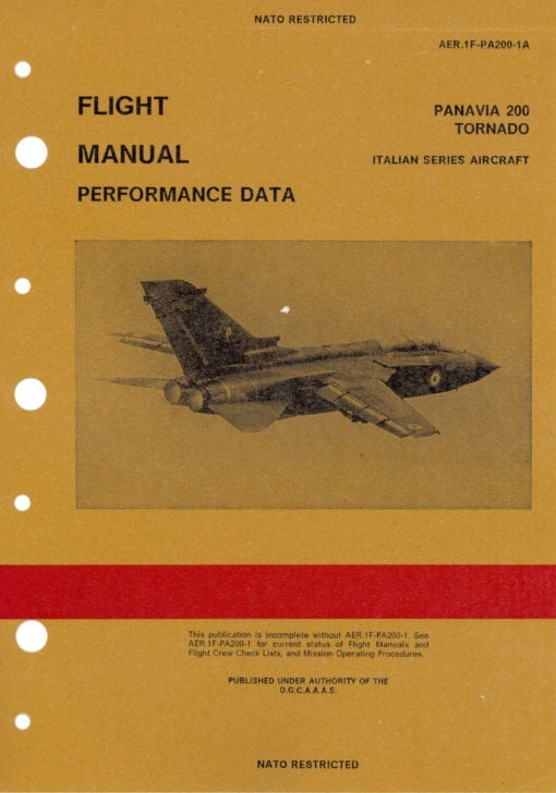 Flight Manual for the Panavia Tornado