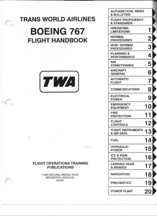 Flight Manual for the Boeing 767