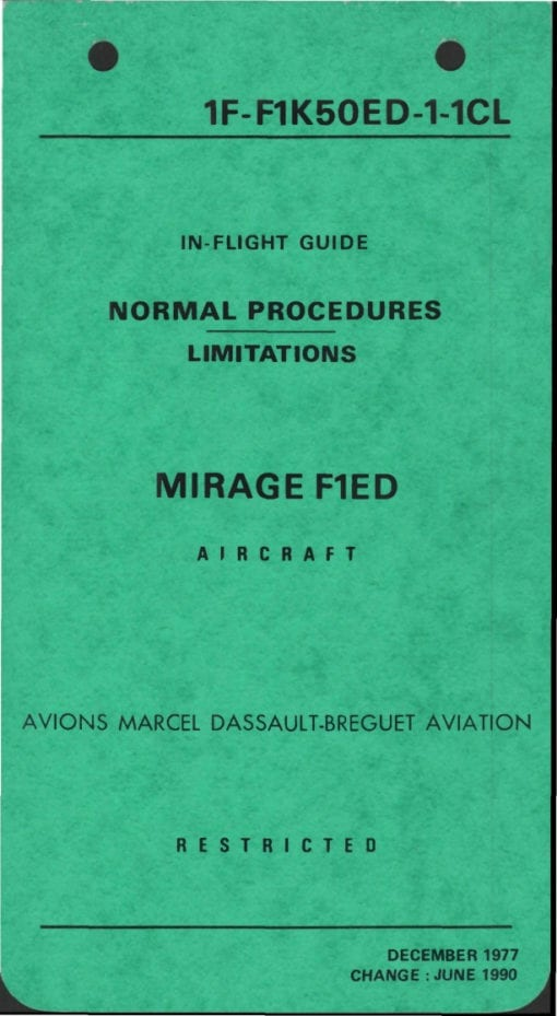 Flight Manual for the Mirage F1