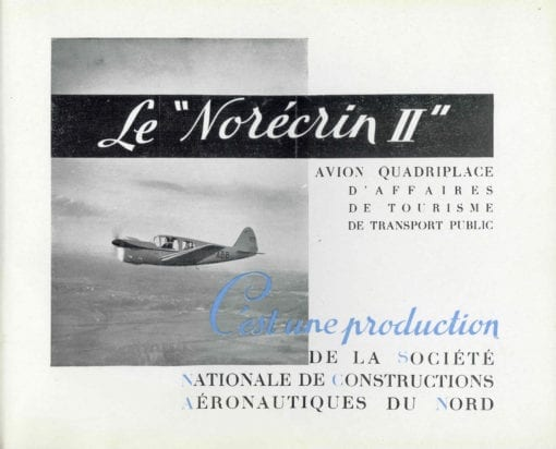 Flight Manual for the Nord SCAN 1200 Norecrin
