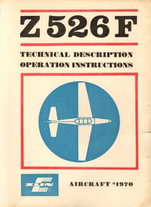 Flight Manual for the Zlin Z526F