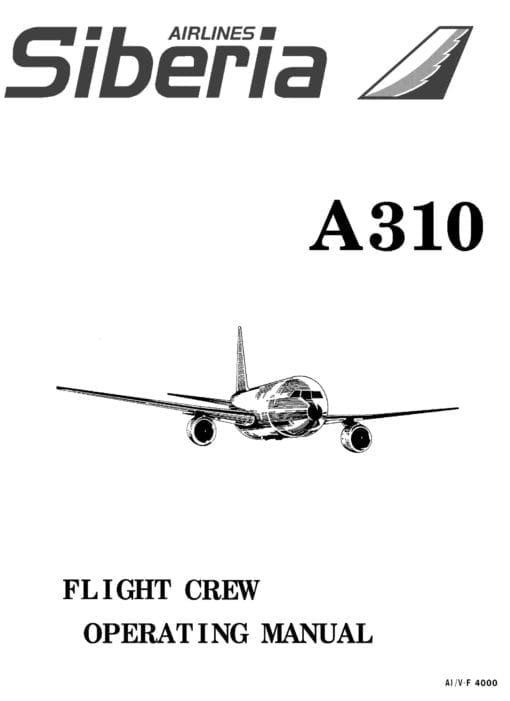 Flight Manual for the Airbus A310