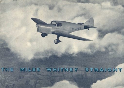 Flight Manual for the Miles M11 Whitney Straight