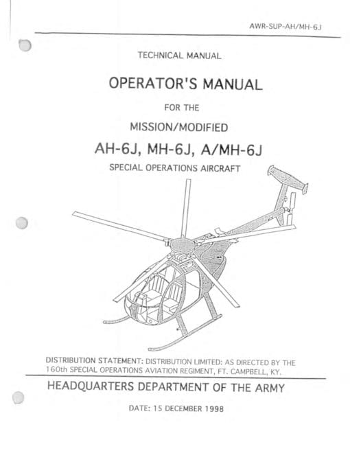 Flight Manual for the Hughes MDHI 369 OH-6 Cayuse