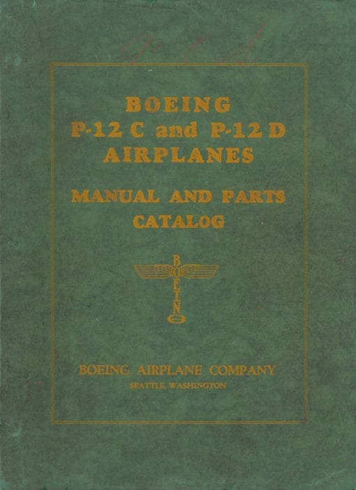 Flight Manual for the Boeing P-12