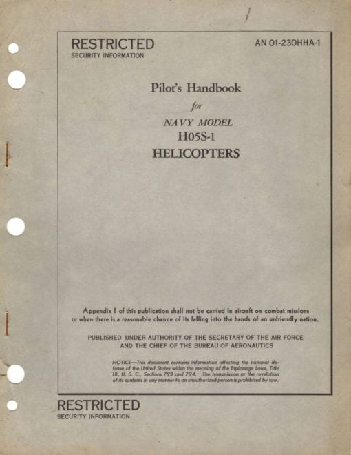 Flight Manual for the Sikorsky S-52 HO5S