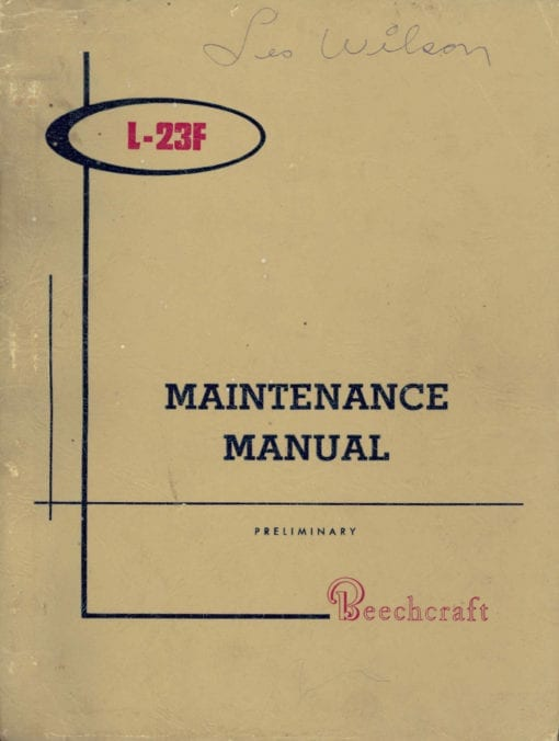 Flight Manual for the Beech L-23F Queen Air