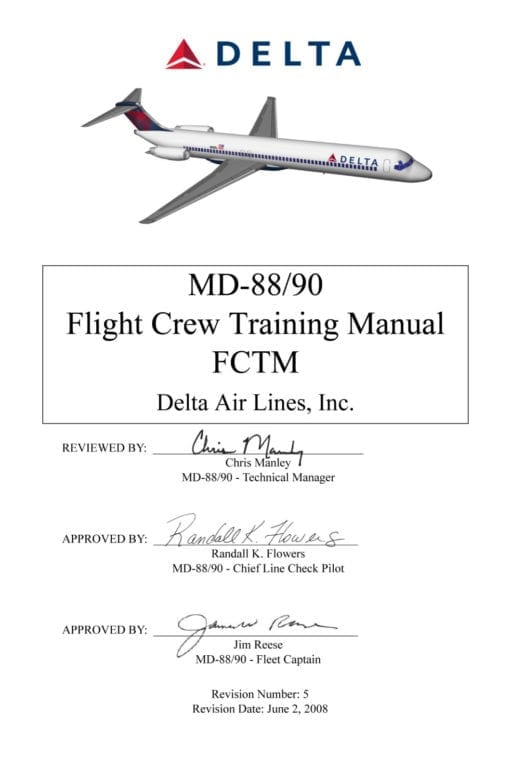 Flight Manual for the McDonnell-Douglas MD-88 MD-90
