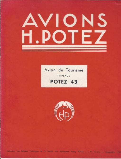 Flight Manual for the Potez 43