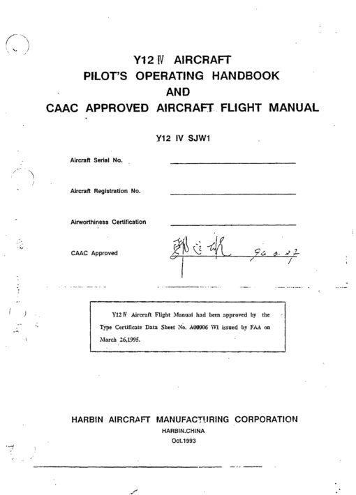 Flight Manual for the Harbin Y12