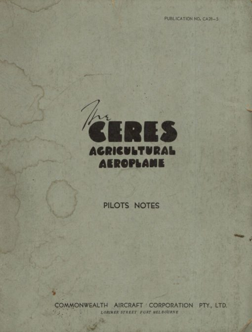 Flight Manual for the Commonwealth CA28 Ceres